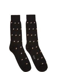 Chaussettes imprimées noires Paul Smith