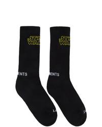 Chaussettes imprimées noires Vetements