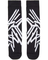Chaussettes imprimées noires Y-3
