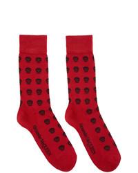 Chaussettes imprimées rouges Alexander McQueen