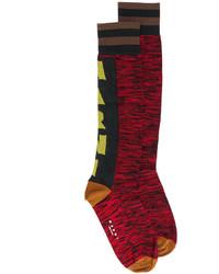 Chaussettes imprimées rouges Marni
