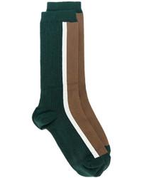 Chaussettes imprimées vert foncé Marni