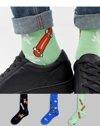 Chaussettes imprimées vert menthe ASOS DESIGN