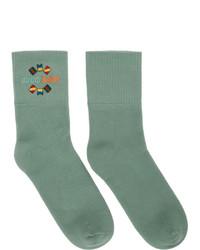 Chaussettes imprimées vert menthe Gucci