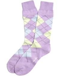 Chaussettes imprimées violet clair