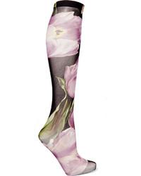 Chaussettes imprimées violet clair Dolce & Gabbana
