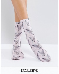 Chaussettes imprimées violet clair Monki