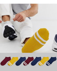 Chaussettes invisibles jaunes ASOS DESIGN