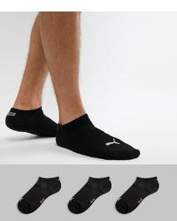 Chaussettes invisibles noires Puma
