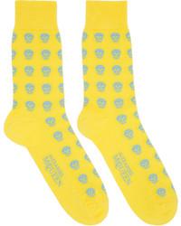 Chaussettes jaunes Alexander McQueen