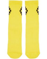 Chaussettes jaunes Marcelo Burlon County of Milan
