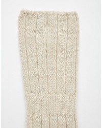 Chaussettes montantes beiges Jonathan Aston