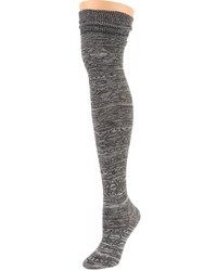 Chaussettes montantes gris foncé