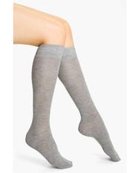 Chaussettes montantes grises