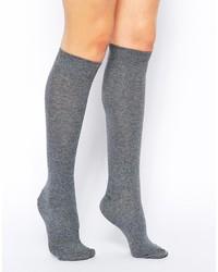 Chaussettes montantes grises Asos