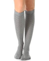 Chaussettes montantes grises Falke