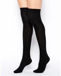 Chaussettes montantes noires Asos