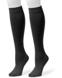 Chaussettes montantes noires Muk Luks