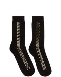 Chaussettes noir et doré Versace