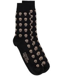 Chaussettes noires Alexander McQueen
