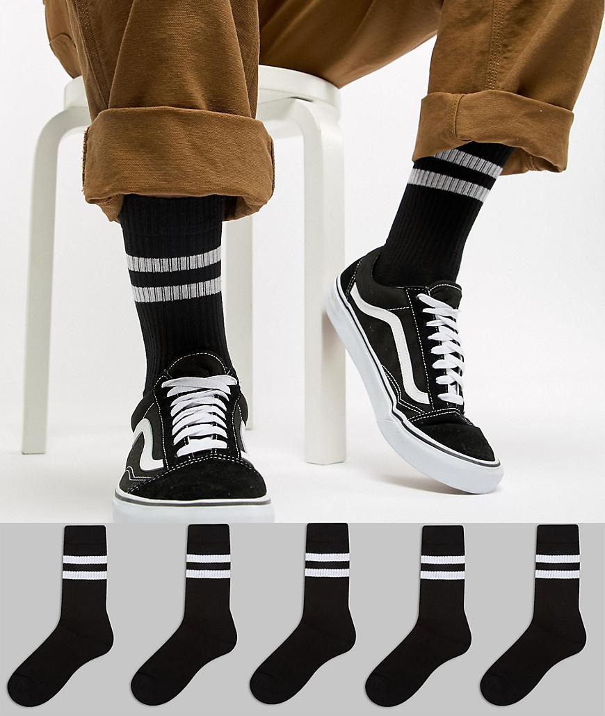 Chaussettes noires ASOS DESIGN