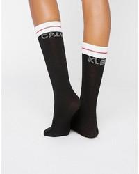 Chaussettes noires Calvin Klein