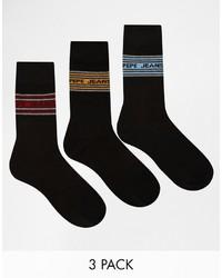 Chaussettes noires Pepe Jeans