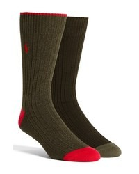 Chaussettes olive