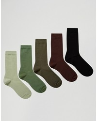 Chaussettes olive Asos