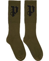 Chaussettes olive Palm Angels