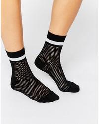 Chaussettes résille noires Monki