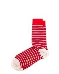Chaussettes rouge et blanc