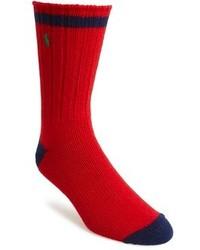 Chaussettes rouge et bleu marine