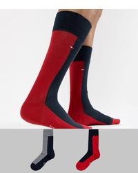 Chaussettes rouge et noir