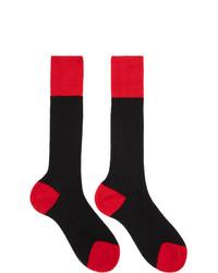 Chaussettes rouge et noir Prada