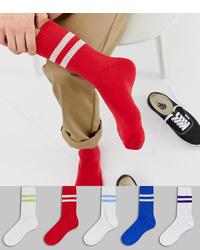 Chaussettes rouges ASOS DESIGN