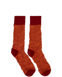 Chaussettes rouges Issey Miyake Men