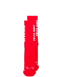 Chaussettes rouges Unravel Project