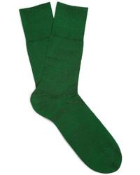 Chaussettes vert foncé Falke