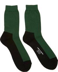 Chaussettes vertes Comme des Garcons