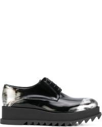 Chaussures à lacet en caoutchouc noires Jil Sander