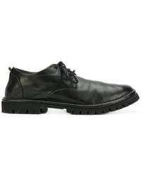 Chaussures à lacet en caoutchouc noires Marsèll