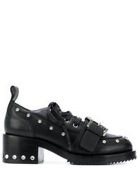 Chaussures à lacet en cuir à clous noires No.21