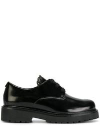 Chaussures à lacet en cuir épaisses noires Twin-Set