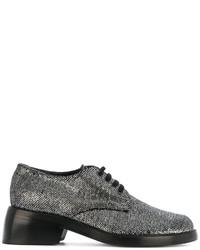 Chaussures à lacet en cuir gris foncé Ann Demeulemeester