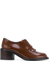 Chaussures à lacet en cuir marron Robert Clergerie