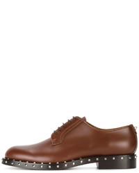 Chaussures à lacet en cuir marron Valentino