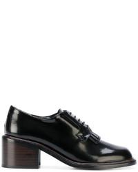 Chaussures à lacet en cuir noires Robert Clergerie