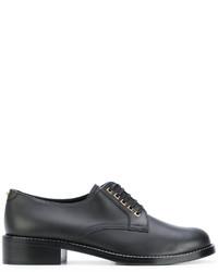 Chaussures à lacet en cuir noires Salvatore Ferragamo