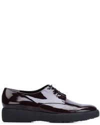 Chaussures à lacet en cuir pourpre foncé Robert Clergerie